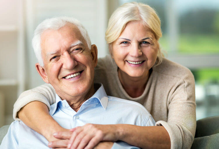 old couples with dentures